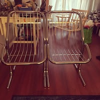 Two stainless steel framed chairs Toronto, M4N 1X8