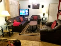 leather 3-seat sofa, table set, tv stand Richland, 99352