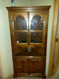 brown wooden framed glass display cabinet Warsaw, 46580