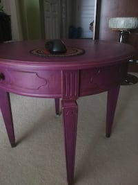 African Violet Antique'd (Worn look) Side Table BURNABY