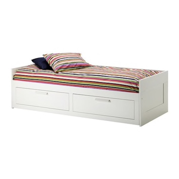 Used White And Red Wooden Bed Frame For Sale In San Francisco Letgo