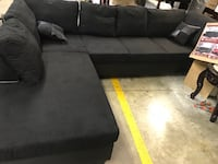 Brand new black color microfiber sectional  Norcross
