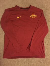 red Nike crew-neck long-sleeved shirt Ames, 50014