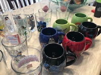 Large lot of collectible pint glasses and mugs great condition  Brampton, L6V 4J8