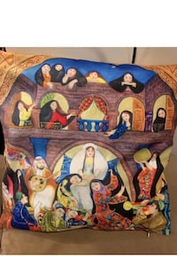 """New 17"""" traditional Arabic culture pillow cover. No cushion insert.price for one.  More than one available Lutherville Timonium, 21093"""