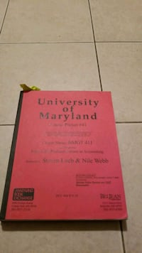 Book/university of Maryland Course Packet #41 course BMGT 411 Wheaton-Glenmont, 20902