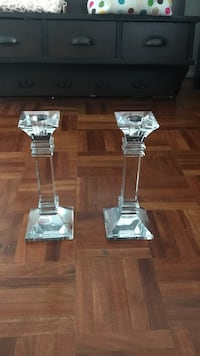 Real Crystal candle stick holders  538 km