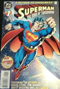 "DC Comics Superman The Man of Tomorrow #1 ""a Return to Greatness!"" Montréal, H1R 2E7"