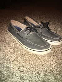 gray-and-white suede boat shoes Rainsville, 35986