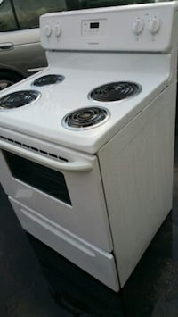 white 4-coil electric range oven Romulus, 48174
