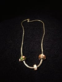 Pandora inspired necklace with 3 charms Brampton, L6W 1G8