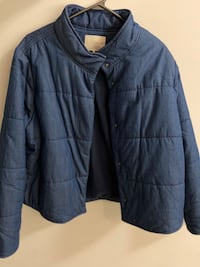 Oak + fort denim puffer jackets