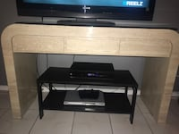 DVD and tv box and other   to layers tablle  dark brown color., used only for a 5month moving sale. Chicago, 60654