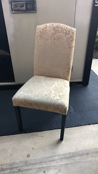 brown wooden framed gray padded chair Ashburn, 20147