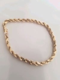 14K Gold Mens Rope Bracelet  Morgan Hill