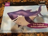 Shark balloon, foil, brand new in wrapper Burtonsville, 20866