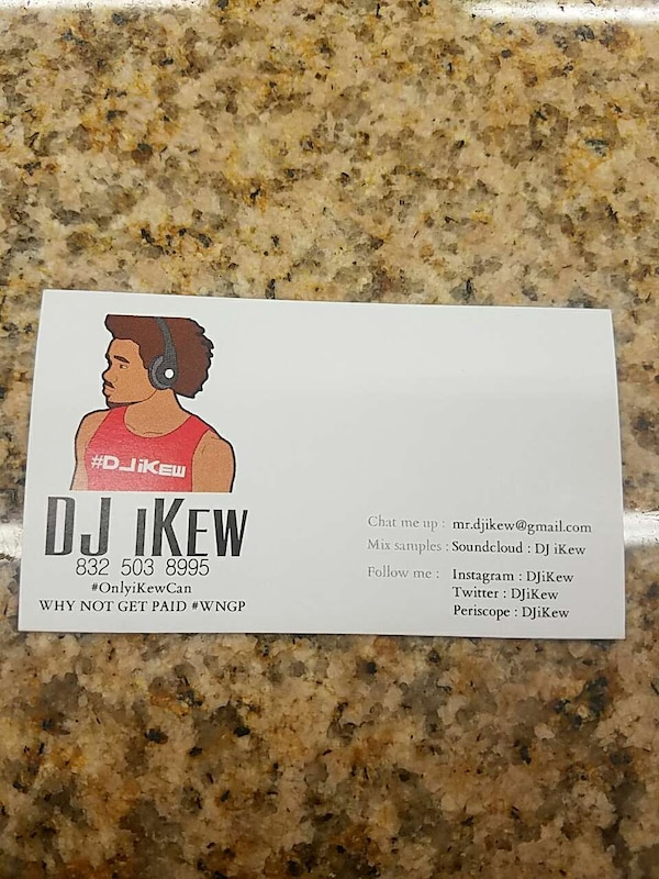 Used dj ikew why not get paid wngp business card for sale in