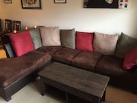 2 Piece Sectional w/ Accent Pillows 23 mi