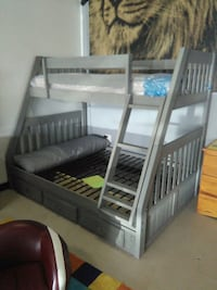 gray wooden bunk bed frame Lakeland, 33811