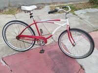 Old School Cruiser Bike! Candy Cane Red & White!