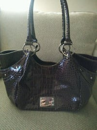 Treviso black and gray leather shoulder bag Slidell, 70460