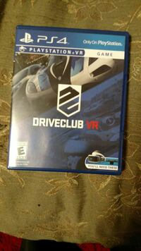 Driveclub VR Sony PlayStation 4 game case Hartford, 06114