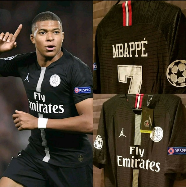 2a519df0519112 Used PSG Home  7 Mbappé Champions League Jordan Jersey for sale in ...