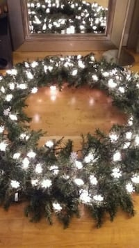 Large 5 foot round wreath  Reading, 19601