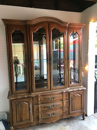 Wood china cabinet Rochelle Park, 07662