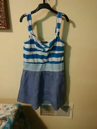 blue and white stripes sleeveless mini dress Reading, 19601