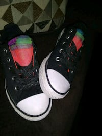 pair of black-and-rainbow converse sneakers Ogdensburg, 13669