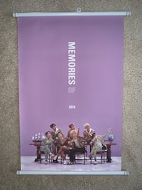 BTS Official Memories of 2018 Wall Scroll Poster Toronto, M1H 2W6