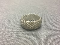 Tiffany and Co. Stamped Sterling Silver Mesh Ring Langley, V3A 8M8