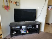 flat screen television with black wooden TV stand Hyderabad, 500032