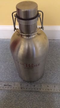 Wine Growler - Stainless Steel Laurel, 20723