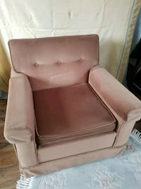 Vintage Re-upholstered Solid Arm Chair - toss cush Airdrie, T4B 0E4