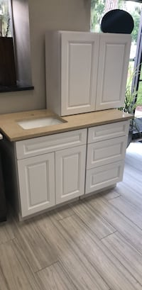 """48"""" vanity with quartz top and sink (plywood cabinets) Sarasota, 34232"""