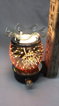Electric Aroma Lamp/Oil Warmer/Tart Burner/ Night Light 3D Effect