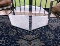 glass octagon table Fort Myers