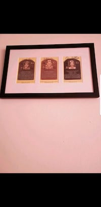 3 HoF Baseball Player Autographs in Custom Framed Piece
