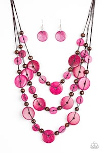 Pink and brown necklace  Tampa