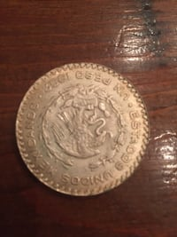 1962 centavos Mexican coin silver Spanish Fort, 36527