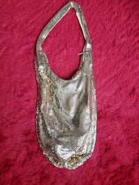 gold sequined purse