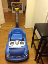 blue and gray push ride-on car Jb Andrews, 20762