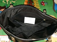 black and gray leather bag St. Catharines, L2M 4L9