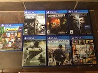 six assorted PS4 game cases Terrebonne, J6Y 1C3