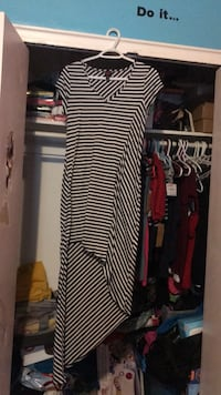 Black and white striped long-sleeved dress Toronto, M6M 3Z1