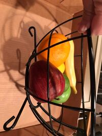 Artificial fruit, peppers, onion, garlic and wire baskets Romeoville, 60446