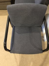 4 framed gray padded armchair good for office waiting room