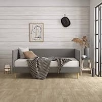 DHP Franklin Mid Century Daybed, Mid-Century Modern Design, Rich Grey Linen Upholstery, Twin ($294 on Overstock) + Zinus Extra Firm iCoil 10 Inch Supporting Matttess Seattle, 98112